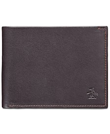 Men's Colorblocked Leather Wallet