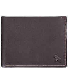 Penguin Men's Colorblocked Leather Wallet