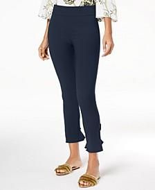 INC Curvy Ruffled-Hem Ankle Skinny Pants, Created for Macy's