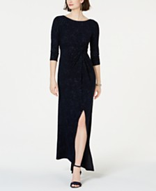 Alex Evenings Knot-Front Gown