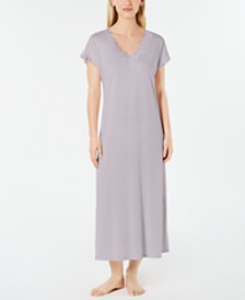 Charter Club Lace-Trimmed Soft Knit Nightgown, Created for Macy's