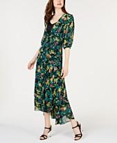 c4051494f7 Calvin Klein Printed Wrap High-Low Maxi Dress