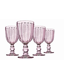 Godinger Carson Modern Vintage Red Wine Glasses, Set of Four