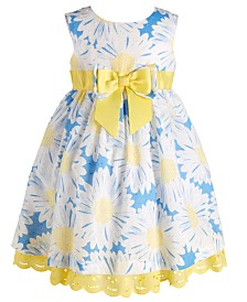 Blueberi Boulevard Baby Girls Floral-Print Dress