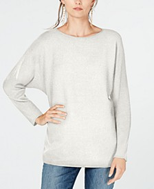 INC Dolman-Sleeve Ribbed-Knit Sweater, Created for Macy's