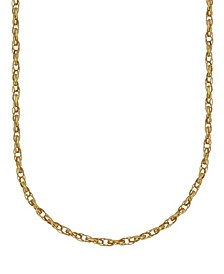 "Double Rolo Link 18"" Chain Necklace (1.9mm) in 18k Gold"