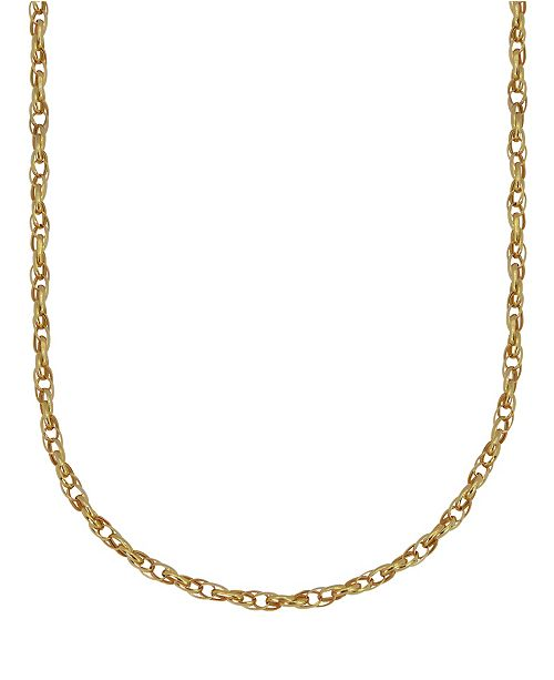 "Macy's Double Rolo Link 18"" Chain Necklace (1.9mm) in 18k Gold"