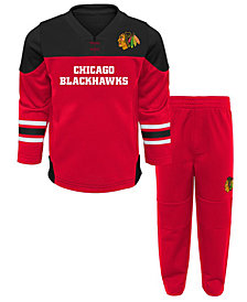Outerstuff Chicago Blackhawks Playmaker Pant Set, Infants (12-24 months)
