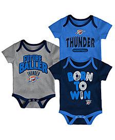 Outerstuff Oklahoma City Thunder 3 Piece Bodysuit Set, Infants (0-9 Months)