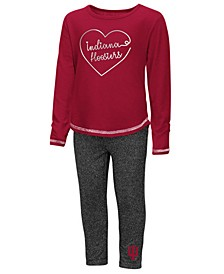 Indiana Hoosiers Legging Set, Toddler Girls (2T-4T)