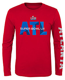 Outerstuff Super Bowl LIII Super Bowl Lockup Long Sleeve T-Shirt, Big Boys (8-20)