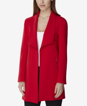 Tahari Asl Jackets WING-COLLAR TOPPER JACKET