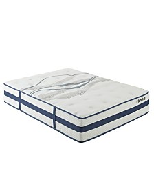 "Broyhill 11"" Queen Faversham Sapphire Cooling Gel Memory Foam Hybrid Innerspring Plush Mattress"