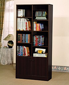 Verden Bookcase with 2 Doors
