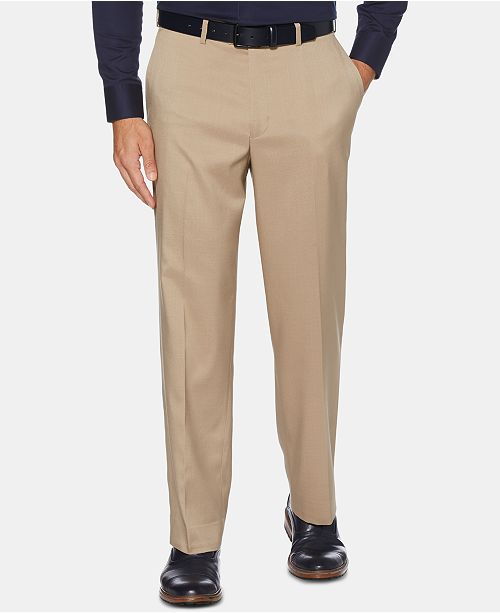 Perry Ellis Men's Portfolio Classic-Fit Performance Stretch Crosshatch Dress Pants
