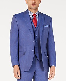 Sean John Men's Classic-Fit Blue Textured Suit Jacket