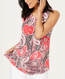 Charter Club Paisley-Print Sleeveless Top, Created for Macy's