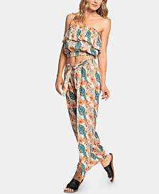 Roxy Juniors' Olivia Printed Split-Front Pants