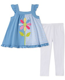 Kids Headquarters Baby Girls 2-Pc. Tunic & Printed Leggings Set