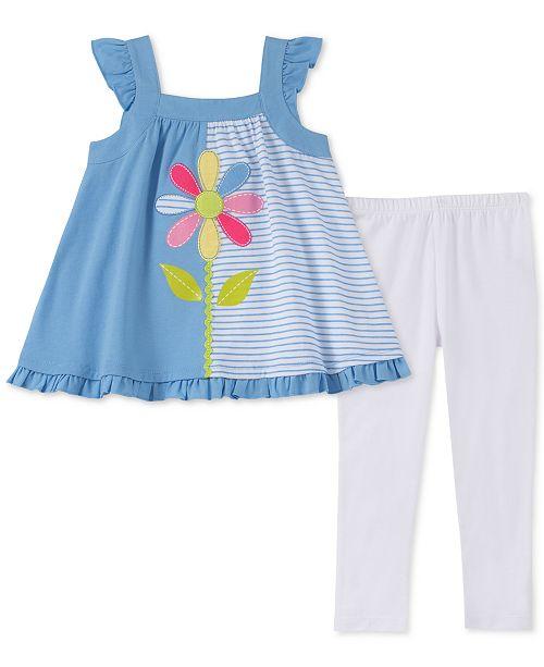Kids Headquarters Baby Girls 2-Pc. Tunic & Printed Leggings Set