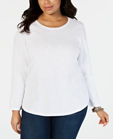 Style & Co Plus Size Crewneck Top, Created for Macy's