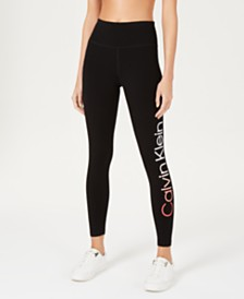 Calvin Klein Performance Logo High-Waist Ankle Leggings