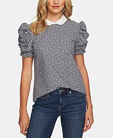 CeCe Cotton Round-Collar Top