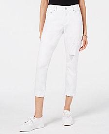 Indigo Rein Juniors' Colored Denim Cuffed Skinny Jeans