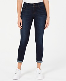 Vanilla Star Juniors' Cuffed Skinny Ankle Jeans