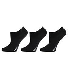 DKNY Women's 3 Pack Microfiber No-Show Socks