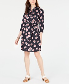 Tommy Hilfiger Cotton Printed Shirtdress