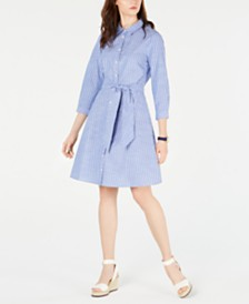 Tommy Hilfiger Cotton Striped Shirtdress