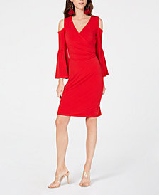 I.N.C. Cold-Shoulder Bell-Sleeve Dress, Created for Macy's