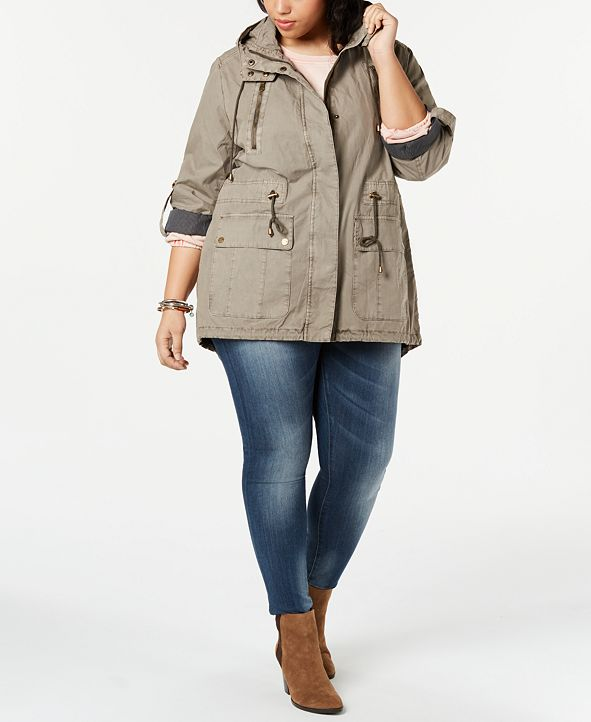 Levi's Levi's®Trendy Plus Size Lightweight Parachute Cotton Hooded Fishtail Jacket
