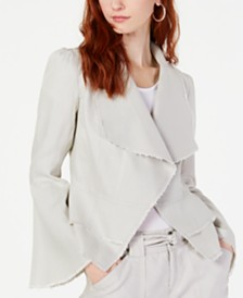 I.N.C. Linen Ruffle-Hem Jacket, Created for Macy's