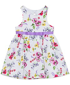 Rare Editions Baby Girls Floral Embroidered Dress