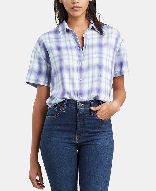 Levi's Lacey Plaid Short-Sleeve Shirt