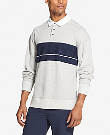 DKNY Men's Woven Rugby Shirt