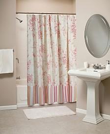 Coral Bath Shower Curtain
