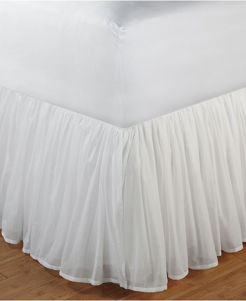 """Greenland Home Fashions Cotton Voile Bed Skirt 18"""" King"""