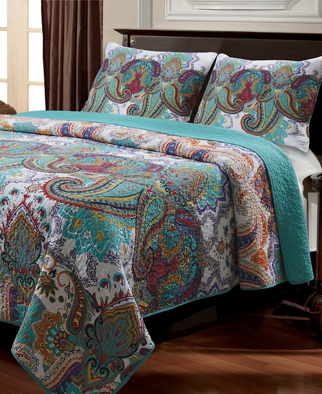 Greenland Home Fashions Nirvana Quilt Set, 2-Piece Twin