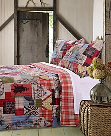Rustic Lodge Quilt Set, 3-Piece Full - Queen