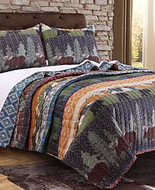 Black Bear Lodge Quilt Set, 2-Piece Twin