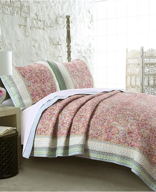 Greenland Home Fashions Palisades Pastel Quilt Set, 3-Piece King