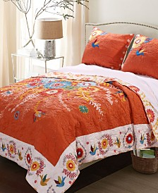 Topanga Quilt Set, 3-Piece Full - Queen