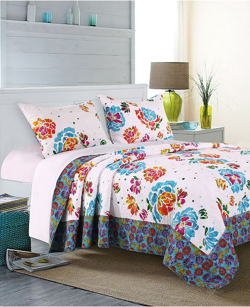 Greenland Home Fashions Ravey Quilt Set, 2-Piece Twin