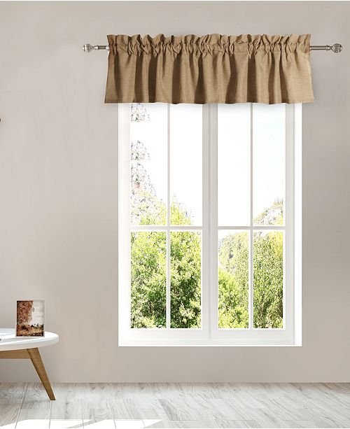 Greenland Home Fashions Burlap Window Valance