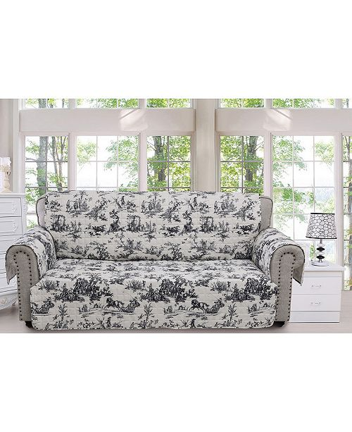 Greenland Home Fashions Classic Toile Furniture Protector Sofa