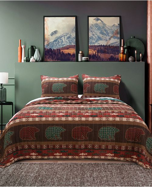 Greenland Home Fashions Canyon Creek Quilt Set, 3-Piece King