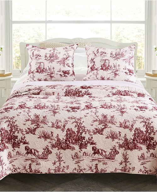 Greenland Home Fashions Classic Toile Quilt Set, 2-Piece Twin
